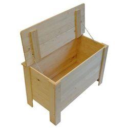 Skrzynia drewniana z klapą (5901912810334)