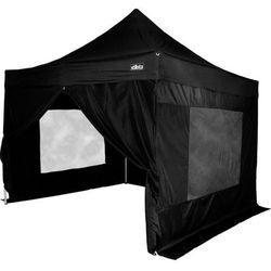 Namiot ogrodowy, party, STILISTA automatyczny 3x3m +4 ściany - czarny