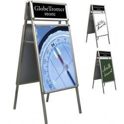 Tablica plakatowa Top na stojaku A 2x3 A1(594x841mm) + 2xA4 top(594x210mm), TTZS/A1