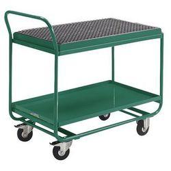 Wózek stołowy, z wanną wychwytową, rusztem kratowym i kurkiem spustowym, turkuso