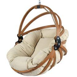 Fotel wiszący drewniany - Gaya Beż