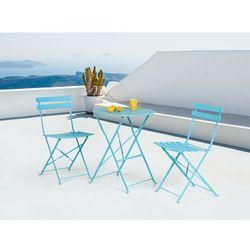 Meble ogrodowe niebieskie - balkonowe - stół z 2 krzesłami - FIORI - sprawdź w wybranym sklepie
