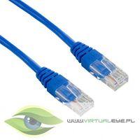 4World kabel krosowy RJ45, bez osłonki, Cat. 5e UTP, 3 m, niebieski (04719) Darmowy odbiór w 21 miastach!, 4