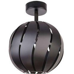 Plafon LAMPA sufitowa GLOBUS SKOS 31312 Sigma metalowa OPRAWA ażurowa z wycięciami kula ball czarna