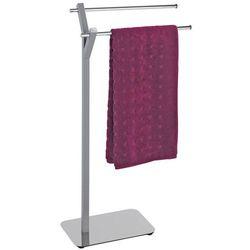 Łazienkowy stojak na ręczniki ALBERO GREY - 2 ramienny, WENKO (4008838164921)