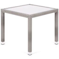Stół ogrodowy technorattanowy Mori Basic Square Grey