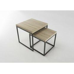Stoliki kawowe w stylu skandynawskim DUO1 Dąb Brunico 3,6 cm