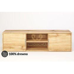 Woodica Szafka rtv dębowa modern 02