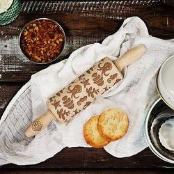 Mygiftdna Ocean - mini grawerowany wałek do ciasta - wałek 23cm, kategoria: wałki kuchenne