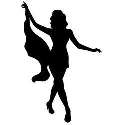 Szablon malarski, wielorazowy, wzór sylwetka 18 - Tancerka GoGo