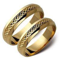 Obrączki złote zołte lub białe złoto wzorek ST7