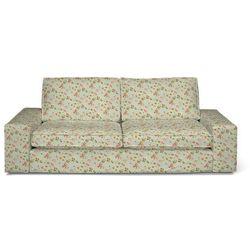 pokrowiec na sofę kivik 3-osobową, rozkładaną, kwiatki na jasno-błękitnym tle, sofa kivik 3-osobowa rozkładana, londres marki Dekoria