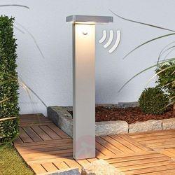 Lampa cokołowa LED Maik z czujnikiem, solarna (4251096541632)