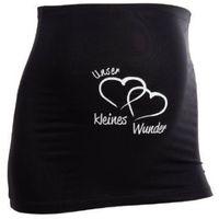 MAMABAND Pas podtrzymujący brzuch Unser kleines Wunder kolor czarny z kategorii Pasy ciążowe