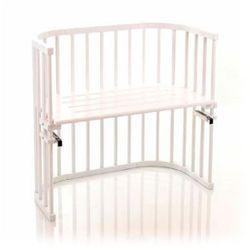 original oddychające łóżeczko dostawne z drewna bukowego kolor biały od producenta Tobi babybay