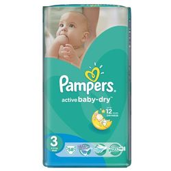 pieluchy active baby dry 3 midi (58 szt.) od producenta Pampers