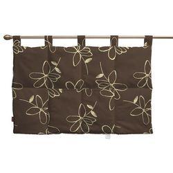 Dekoria  wezgłowie na szelkach, na brązowym tle kremowe kwiaty, 90 x 67 cm, flowers