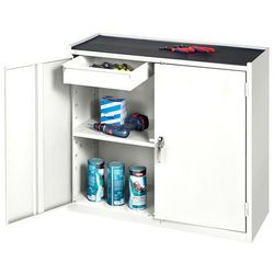 Szafka warsztatowa serve, 2 szuflady, 900x450x950mm, biały marki Aj produkty