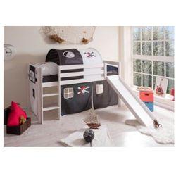 Ticaa łóźko ze zjeźdzalnia manuel sosna biała - pirat czarny/biały, marki Ticaa kindermöbel