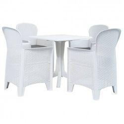 Zestaw mebli ogrodowych belvo 3x - biały marki Producent: elior