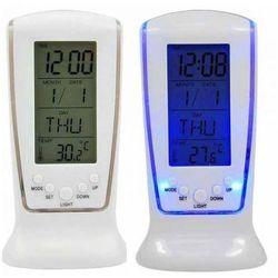 Toptel Stacja pogodowa elektroniczna led zegar, termometr biała