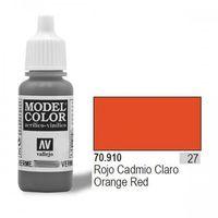 Vallejo Farba Nr27 Orange Red Matt 17ml - sprawdź w wybranym sklepie