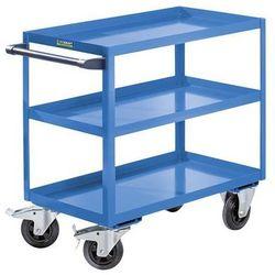 Montażowy wózek pomocniczy, 3 piętra, nośność 350 kg, wys. całkowita 915 mm, jas