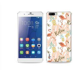 Fantastic Case - Huawei Honor 6 Plus - etui na telefon Fantastic Case - różowe flamingi