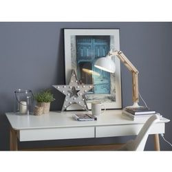 Beliani Nowoczesna lampka nocna w kolorze białym - lampa stojąca - salado (7081451929686)