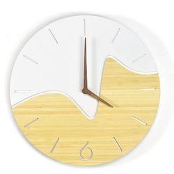Woodwaycrafts Bambusowy nowoczesny zegar nord oscillo