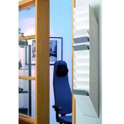 FLEXIBOXX A4 12 poziomych pojemników na dokumenty, kolor biały DURABLE, 1709781010_d