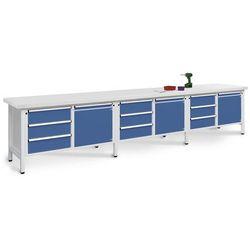 Stół warsztatowy, bardzo szeroki, 3 drzwi, 9 szuflad z częściowym wysunięciem, b