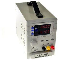 Zasilacz laboratoryjny WEP 305DB 30V 5A 3xOUT +USB +60 pami?ci ustawie? z kategorii Transformatory