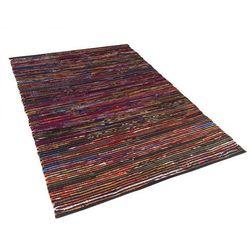 Beliani Dywan wielokolorowo-czarny bawełniany 160x230 cm bartin (4260580937691)