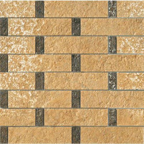 PALACE STONE Mosaici Listoni Su Rete Oro/Nero 39,4x39,4 (G-55) (glazura i terakota) od 7i9.pl Wszystko  Dla Do
