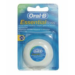 Oral-B Essential Floss Nić dentystyczna woskowana miętowa 50 m, kup u jednego z partnerów