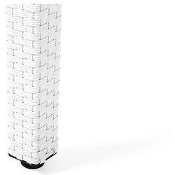 Stół ogrodowy biały - 220 cm - meble ogrodowe - rattan - szkło - italy marki Beliani