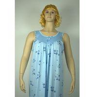 Koszula nocna klasyczna bez rękawów s2 błękit duża od producenta Senara