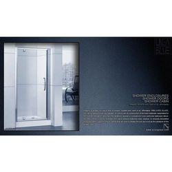 DRZWI PRYSZNICOWE AXISS GLASS AXP090WS 900mm - produkt z kategorii- Drzwi prysznicowe