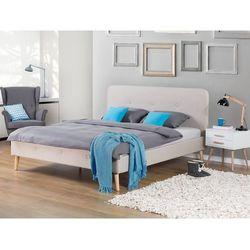 Łóżko beżowe - 160x200 cm - łóżko tapicerowane - RENNES - produkt z kategorii- łóżka