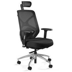Fotel biurowy ergonomiczny hero czarny marki Uq
