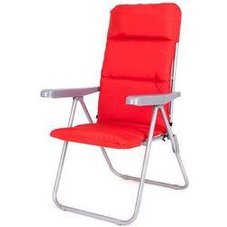 Happy Green krzesło ogrodowe składane LOARA 68 × 58 × 107 cm, czerwone