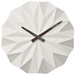 :: zegar ścienny origami ceramic matt white marki Karlsson