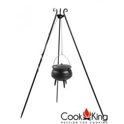 Cook&king Kociołek afrykański emaliowany żeliwny 6l na trójnogu (+ pokrywka)