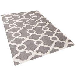 Dywan szary - 80x150 cm - nowoczesny - handmade - wełna - ZILE (4260580924448)