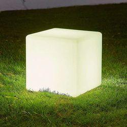 Lampa solarna led ziva w formie kostki, biała marki Lampenwelt.com