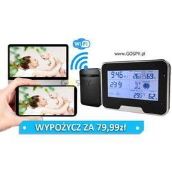 Stacja pogodowa z ukrytą kamerą wi-fi full hd (ipo80) marki Gospy.pl