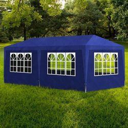 vidaXL Namiot imprezowy 3x6, 6 ścianek, niebieski (8718475837459)