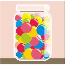 taki słoik kolorowych i pysznych gum kulek to marzenie każdego dziecka