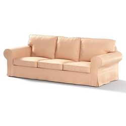 pokrowiec na sofę ektorp 3-osobową, nierozkładaną, latte (eko-skóra), sofa ektorp 3-osobowa, eco-leather marki Dekoria